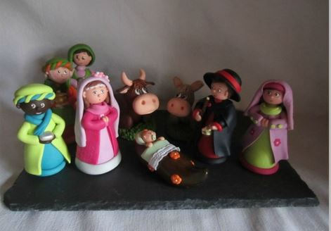 3d papier colle related keywords suggestions 3d papier - Creche de noel a faire soi meme ...