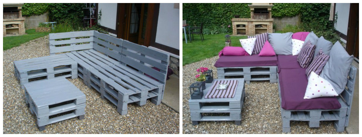 5 projets en palette pour le jardin. Black Bedroom Furniture Sets. Home Design Ideas