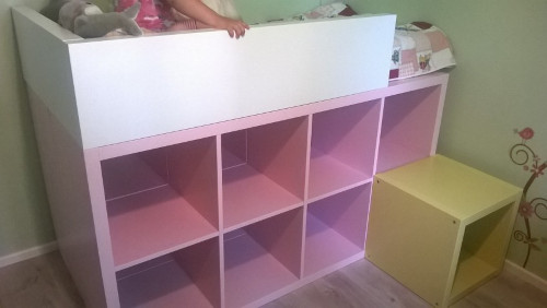 Ikea hack d tourner et customiser une tag re kallax - Bibliotheque bebe ikea ...