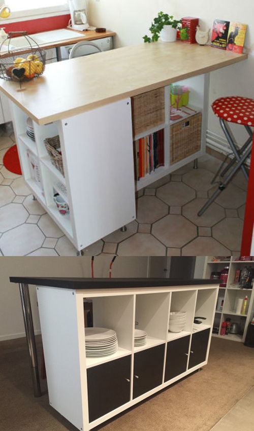 Ikea hack d tourner et customiser une tag re kallax for Meuble kallax blanc