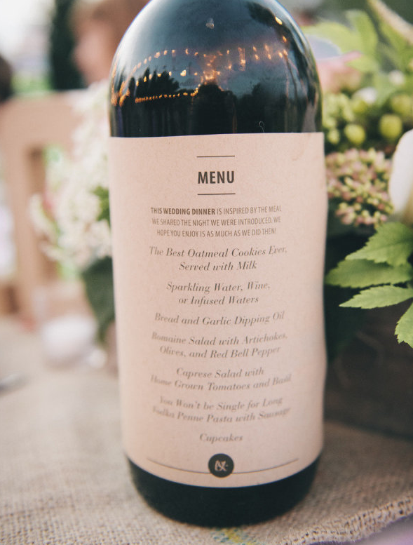 Comment pr senter son menu de mariage for Idee de menu original