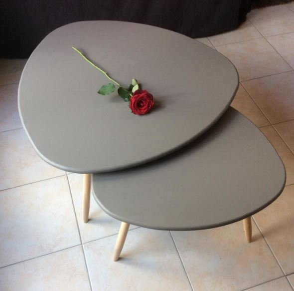 Faire table basse scandinave - Table basse ovale scandinave ...
