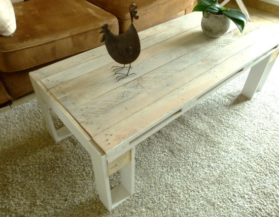 Diy table basse design en palette - Table en planche de coffrage ...