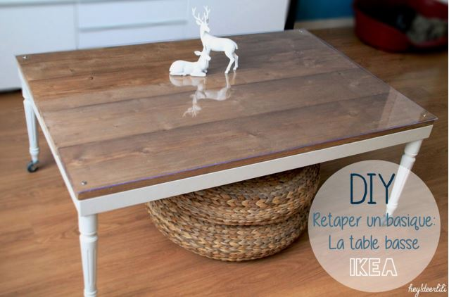 Id es diy 7 fa ons de customiser une table ikea lack for Customiser une table en bois