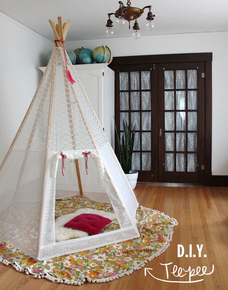 Comment fabriquer un tipi pour enfant How to make room attractive